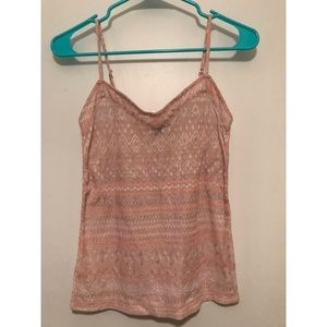 Pink and silver tank top